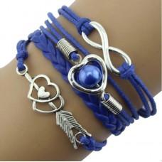 #15 - Gekleurde armband - 5-delig - Gevlochten armband - Blauw