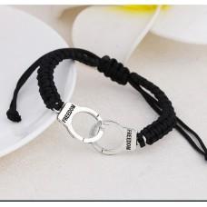#17 - Zwarte armband freedom - Zwarte armband handboeien