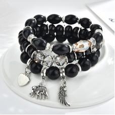 #35 - Zwarte armbanden set