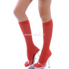 Rode kniekousen / rode hoge sokken / pantykousjes