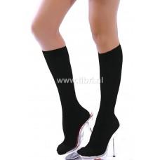 Zwarte kniekousen / zwarte hoge sokken / pantykousjes