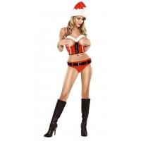 Sexy kerstpakje met open cups UITVERKOCHT