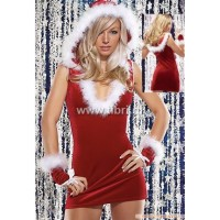 Kerstpakje - Stretch rood UITVERKOCHT