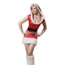 Kerstpakje - Kerstjurkje Christmas Mini Dress met capuchon