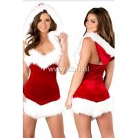 Kerstpakje - Beauty Christmas hooded kerstjurkje UITVERKOCHT