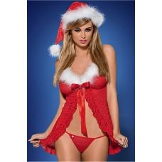 Sexy kersttop 3-delig UITVERKOCHT