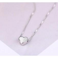 #203 - Zilveren ketting met hartje - Ketting zilver met hart - Zilveren collier met hartje