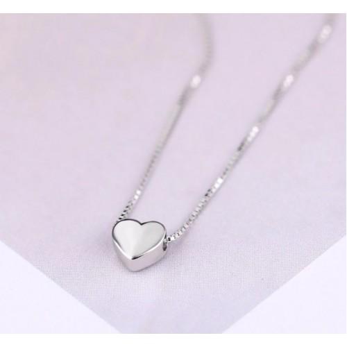 Spiksplinternieuw Zilveren ketting met hartje - Ketting zilver met hart - Zilveren HC-82