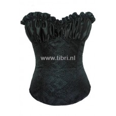 Gepoft zwart korset